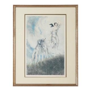"Louis Icart ""Joy of Life"" Art Nouveau Print"