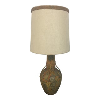 Mid-Century Drip Pottery Lamp