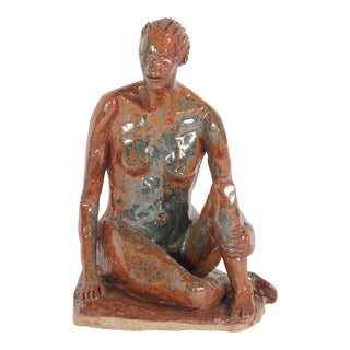 2001 Clay Figure Sculpture by Dave Fox