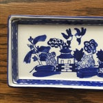 Image of Chinoiserie Hand Painted Blue And White Tray
