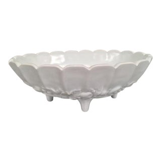Vintage Milk Glass Footed Bowl