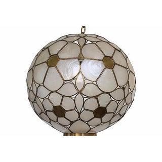 Mid Century Capiz Globe Pendant Light
