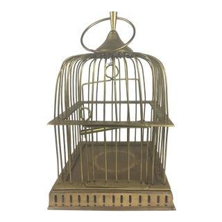 Patinated Round Brass Birdcage