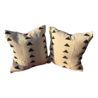 Mud Cloth Triangle Pillows - A Pair