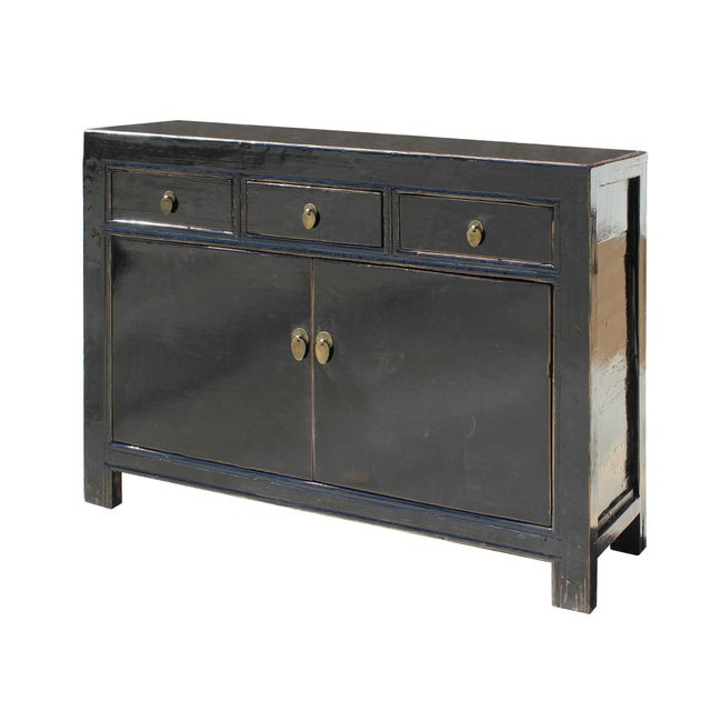 Buffet Table With Storage Underneath ~ Oriental simple black credenza sideboard buffet table