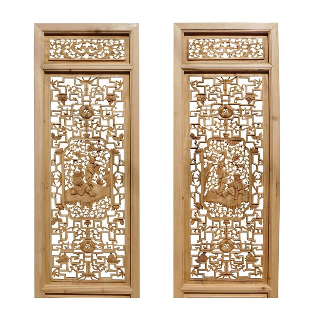 8 Immortals Carved Panel Floor Screens - Set of 4 - Image 4 of 6