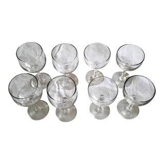 Crystal Mid-Century Wine Glasses - Set of 8