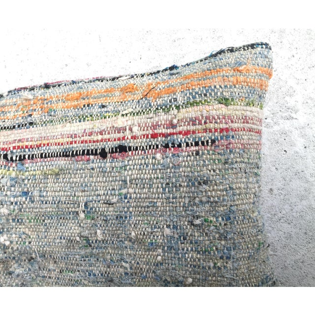 Moroccan Striped Kilim Pillow Cover - Image 8 of 11