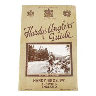 Vintage 1927 Hardy's Anglers' Guide 49th Edition Illustrated Book with Original Hardy Brothers Receipt