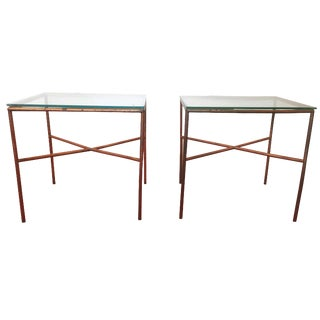 Vintage Copper Side Tables - A Pair