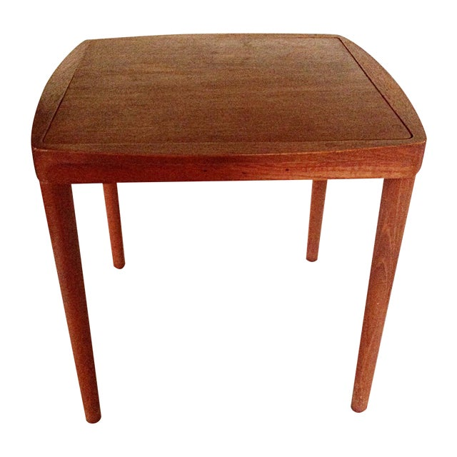 Mid-Century Side Table With Stool - Image 1 of 5