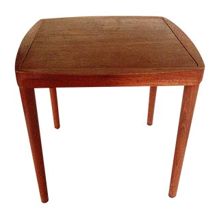 Mid-Century Side Table With Stool