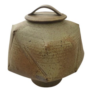 Mid-Century Studio Art Pottery Covered Jar