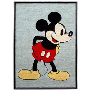 Framed Mickey Mouse Disney Needlepoint Artwork