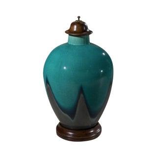 Peacock Blue Studio Vases - A Pair