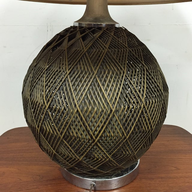 Optic Woven Cane Table Lamp - Image 9 of 11