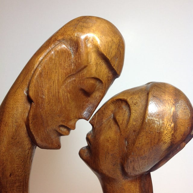 Mid-Century Carved Sculpture - Image 6 of 9