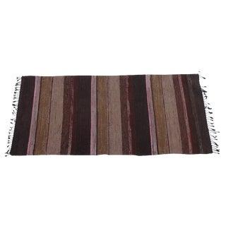 Swedish Hand-Woven Rag Rug - 2′10″ × 6′5″