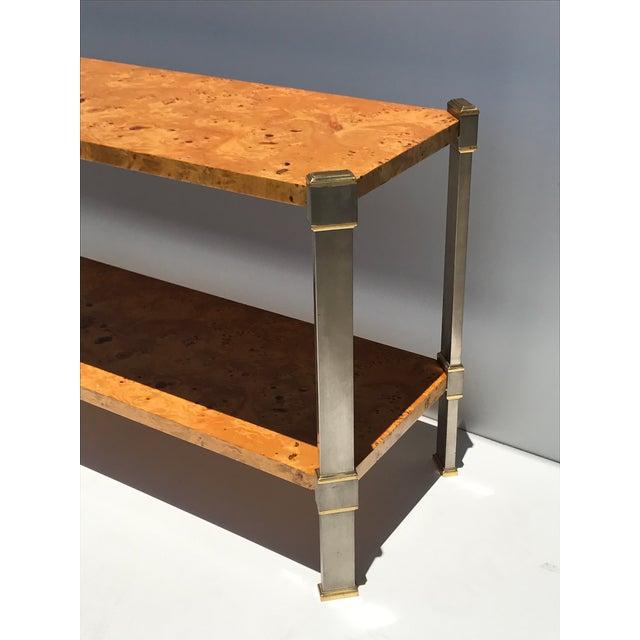 Burlwood Console Table Attributed to Romeo Rega - Image 4 of 11