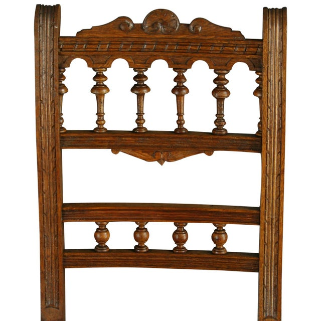 Antique French Renaissance Henry II Oak Chairs - 8 - Image 6 of 8