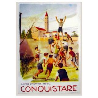 1950s Original Italian Poster, Conquistare