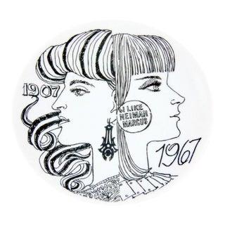 Piero Fornasetti Porcelain Presentation Plate for Neiman Marcus 1967.
