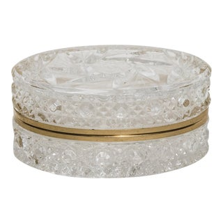 Cut Glass Jewelry Box