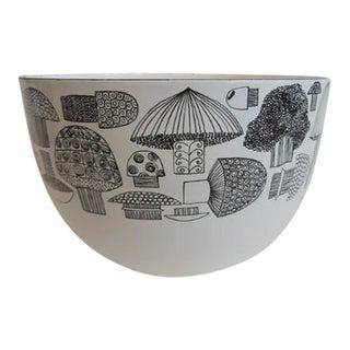 Vintage Kaj Franck Finel Arabia Mushroom Enamelware Bowl