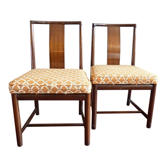 Asian Inspired Dining Chairs - A Pair - Image 1 of 11
