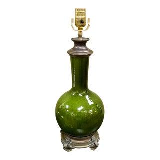 Green Glazed Chinese Porcelain Vase Table Lamp