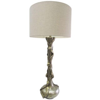 Champagne-Toned Plaster Lamp