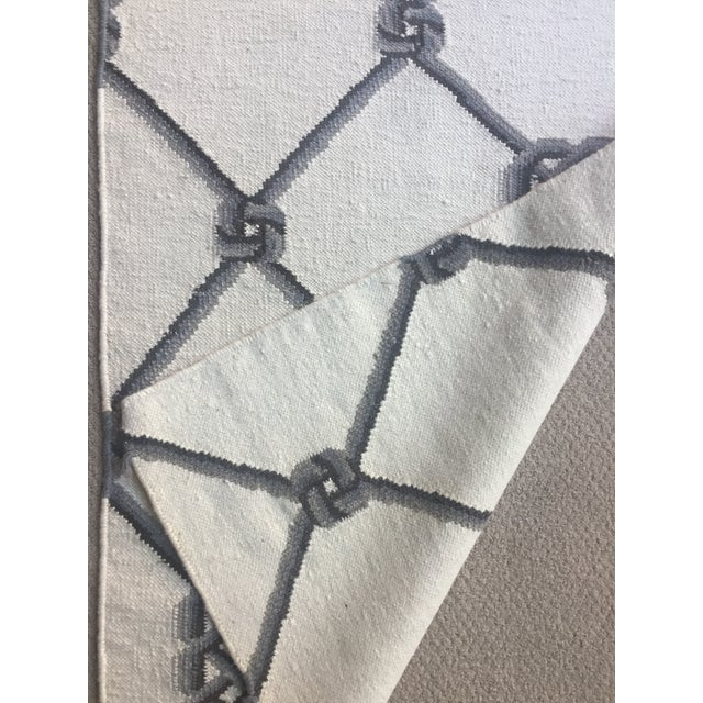 "Knot Motif Diamond Wool Runner Rug - 2'7"" X 7'11"" - Image 5 of 5"