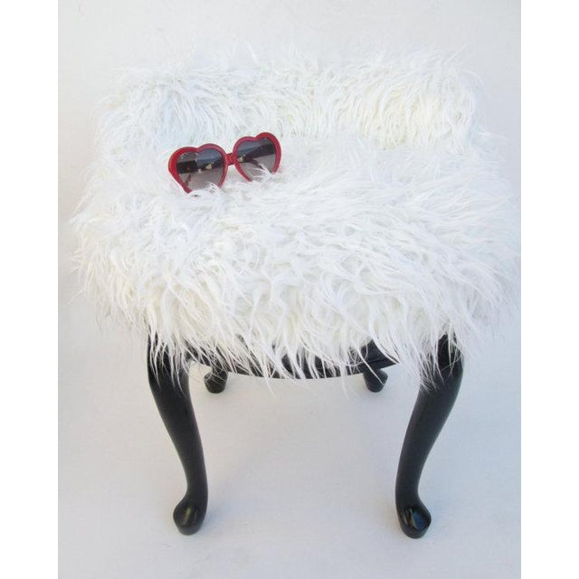 Vintage french boudoir faux fur swivel chair chairish for Boudoir stoel