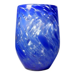 Blue Murano Glass Vase