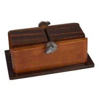Double Lidded Macassar and Walnut Box, 1930s