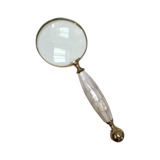 Mother of Pearl & Brass Magnifying Glass