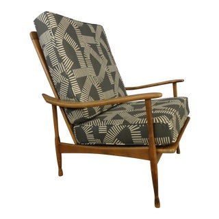 Reupholstered Mid-Century Club Chair