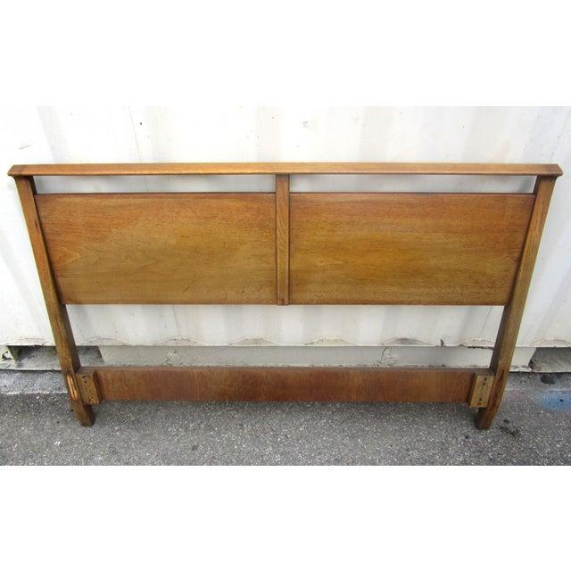 Vintage Wooden Headboard & Footboard, Full Size - Image 3 of 7