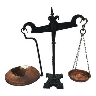1930s Wrought Iron Scale