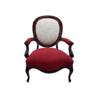 Rococo Revival Walnut Parlor Chair