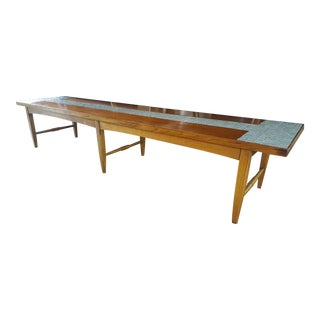 Vintage Mid-Century Lane Tiled Long Coffee Table or Bench