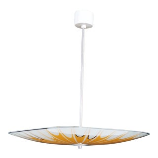 Yellow Mid Century Ceiling Light with Spray Pattern, 1950s