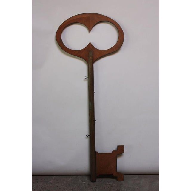 Monumental Mid-20th Century Folk Art Wooden 'Key' Trade Sign - Image 2 of 10