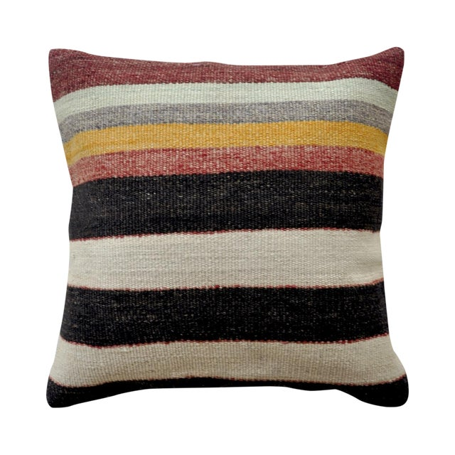 Modern Kilim Pillows : Modern Stripe Vintage Turkish Kilim Pillow Cover Chairish