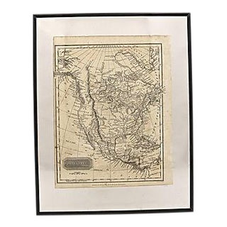 1814 Antique Map of North America