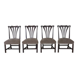 Antique Chippendale Dining Chairs - Set of 4