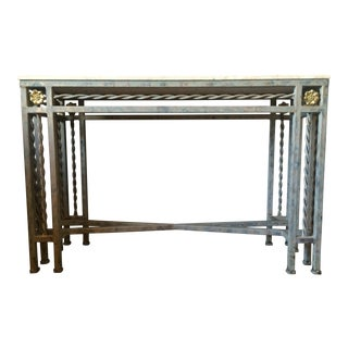 Stone & Iron Console Table