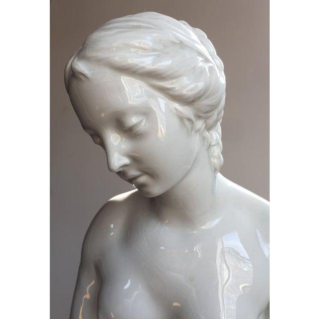 19th C. Falconet Porcelain 'Bather' Sculpture - Image 8 of 10