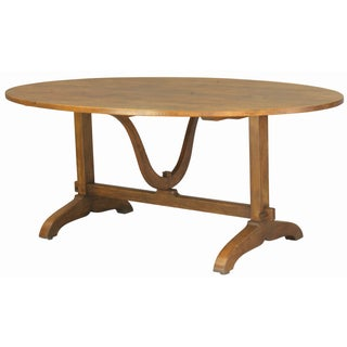 Antique Finish Wine Tasting Table