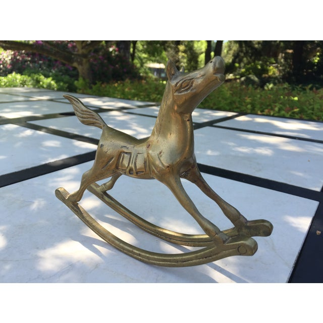 Vintage Brass Rocking Horse Figurine - Image 3 of 5